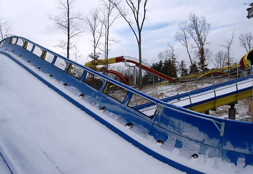 Mammoth water coaster is a snow coaster after today's flurries!