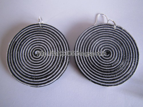 Handmade Jewelry - Paper Quilling Disk Earrings (13) by fah2305