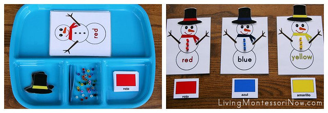 Spanish Snowman Color Activity