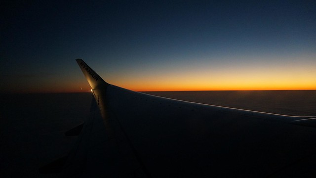 Twilight Sunrise Airplane