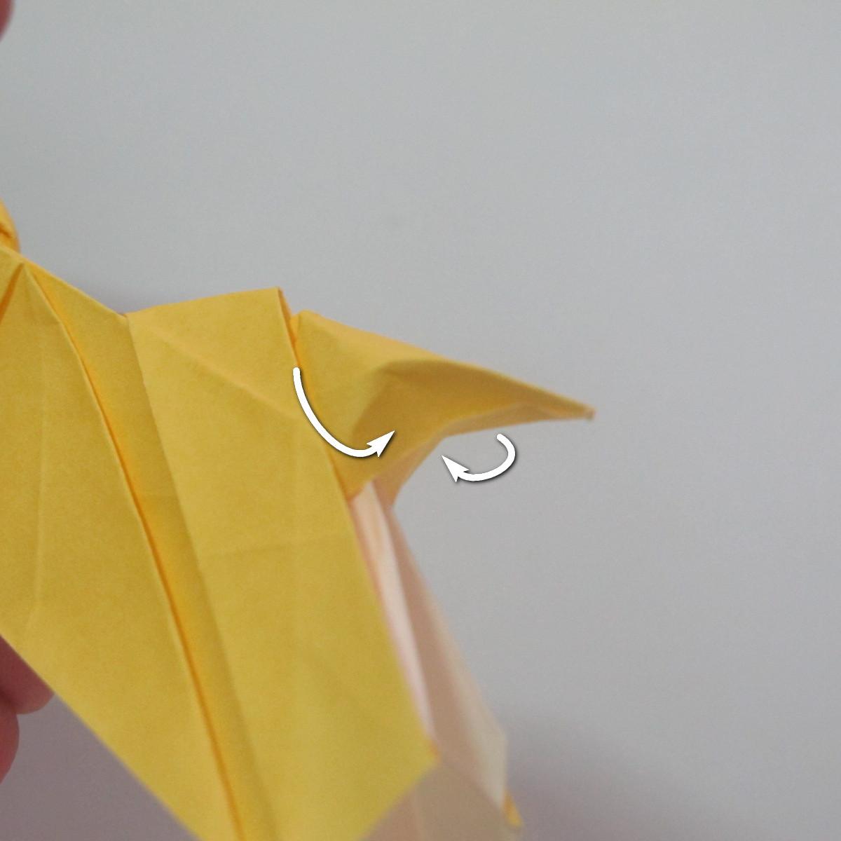 สอนวิธีพับกระดาษเป็นรูปลูกสุนัขยืนสองขา แบบของพอล ฟราสโก้ (Down Boy Dog Origami) 113
