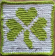 Shamrock Hot Pad by Melissa Rodriguez