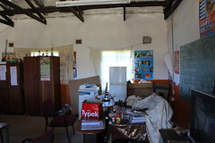 "Mqolombeni Primary School - meeting in the principal's ""office"""
