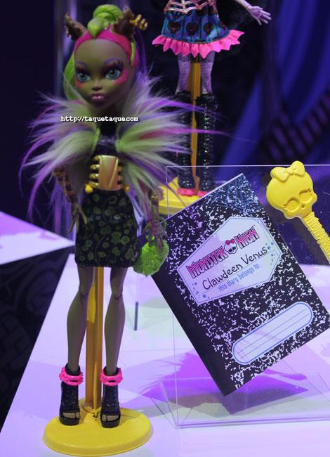 NY Toy Fair 2014 - MH Freaky Fusion: Clawdeen & Venus (mi favorita de esta colección)