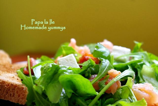 Salata cu somon afumat (5)