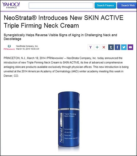 Dr. Joel Schlessinger discusses new NeoStrata Skin Active Triple Firming Neck Cream