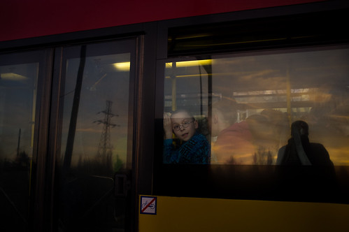 boy sunset bus europe poland autobus dziecko wrocław chłopak