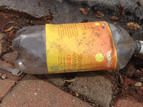 Found in the Melting Snow: Empty 2 Liter Bottle of Store Brand Sparkling Water