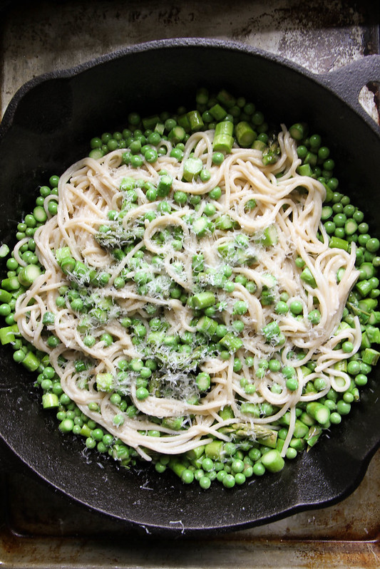 Spring Pasta with Peas Asparagus and Butter