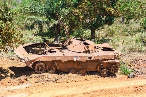 Tank in Nzeto, Angola