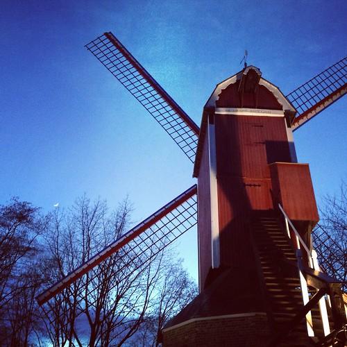 Moulin à Bruges, Belgique