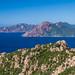 Small photo of Corsican coast line, near Piana, West Coast.