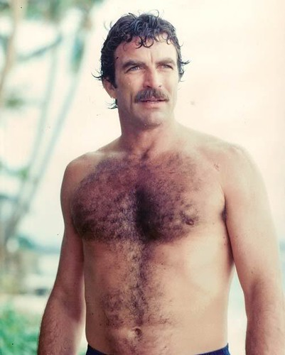 tom selleck hairy chest magnum pi 80s fur joke