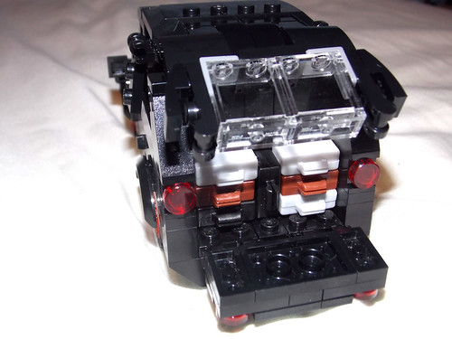 LEGO Minifigure scale Car - 7-wide SUV - seats 7 minifigs - MODded tailgate 2
