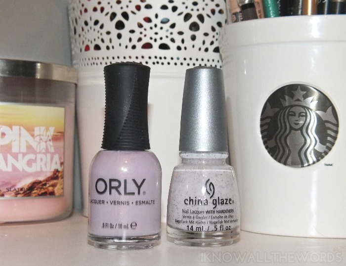 orly flawless flush and china glaze sand dolla make you holla