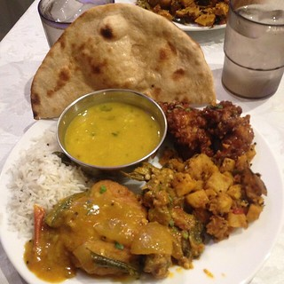 All you can eat VEGAN Indian buffet last weekend - We definitely stuffed ourselves. It was so spicy and authentic.