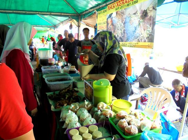 Nasi kerabu stall 1