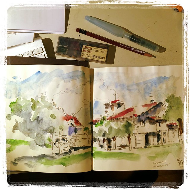 #elgoibar #pencil #watercolor #urbansketch