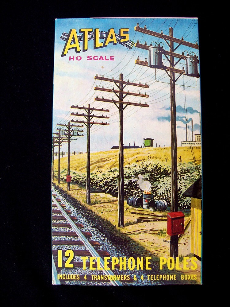 Atlas Model RR Telephone Pole Box | I like the artwork on th