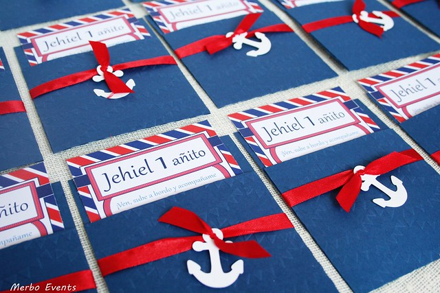 Invitaciones para cumpleaños marinero