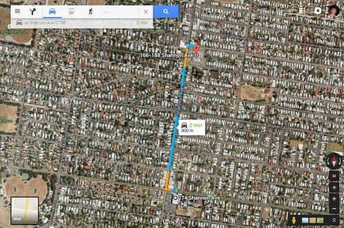 Only 900 metres between two Woolworths supermarkets in Newtown, Victoria