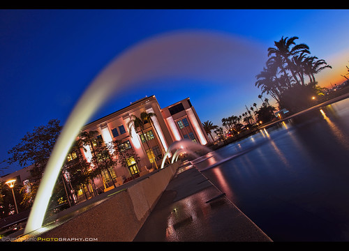 waterfrontpark sandiego night waterfall california tilt dutchtilt downtown skyline bay waterfront urban architecture scenic usa water twilight scenery dusk harbor cityscape building landmark landscape embarcadero evening reflection outdoors office californian american tourism travel sunset playground samantoniophotography