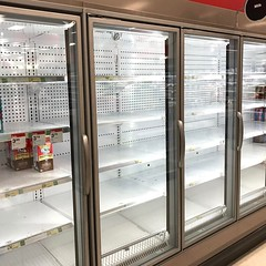 The milk section at Target. Why? For 3 inches of snow!? #SnowStormEssentials #DMV #SnowStorm
