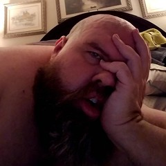 I got up and was very productive for a couple of hours, but now...... #crashandburn #gay #gaybear #beard #beardbear #beardporn #tiredoldqueen #introvert #dogdad #fatandfabulous #gaydallas #gaycarrolltontx