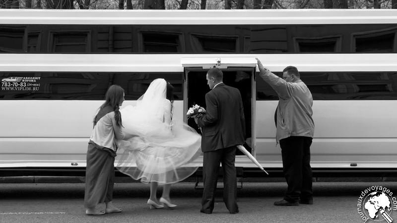 Mariage en limousine