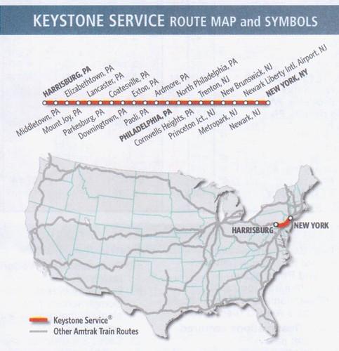 Amtrak Keystone 2013 Map