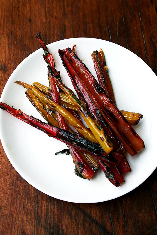 grilled chard stems with anchovy vinaigrette