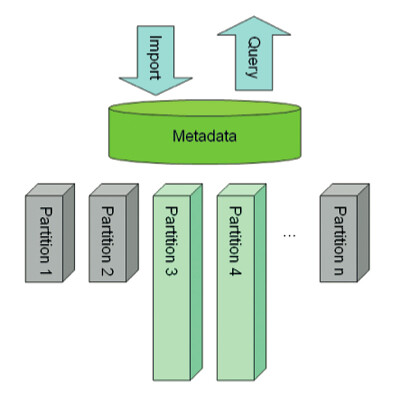 Figure 2. Fully Populated Metadata with Reduced Data Storage