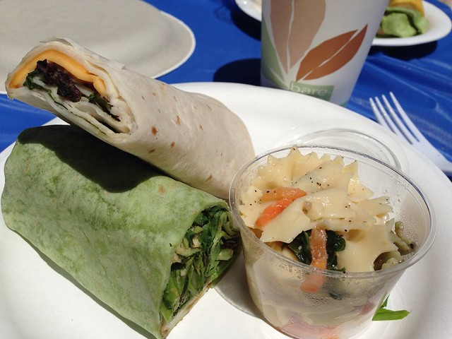 Lunch at La Honda Center. Turkey/Veggie wraps.