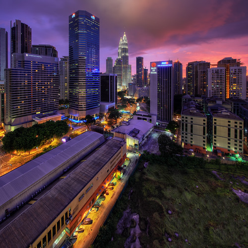 sunset architecture cityscape malaysia kualalumpur hdr klcc citi petronastwintowers canonefs1022mm vertorama vedd ampangpark canoneos60d