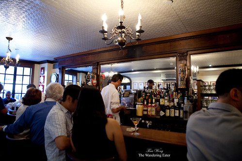 At the bar of Peter Luger