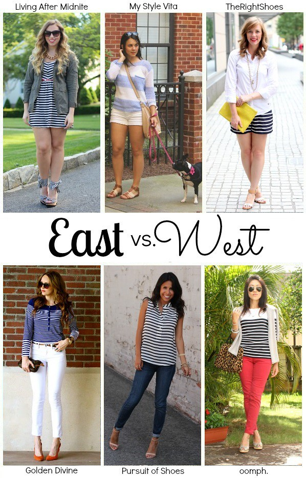 Living After Midnite: East vs West Nautical Stripes