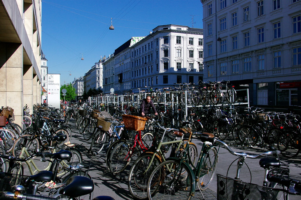 Thousands of bikes in Copenhagen