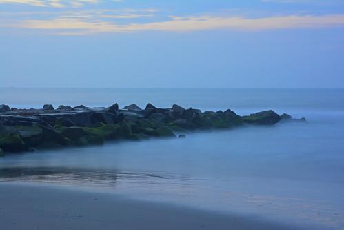 ocean longexposure beach sunrise dawn newjersey jetty oceancitynj jerseyshore
