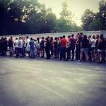 крошечный кусочек очереди. она была раз в 10 больше =.= #Papa Roach #concert #Kiev