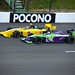 Zach Veach and Juan Pablo Garcia go side-by-side at Pocono Raceway