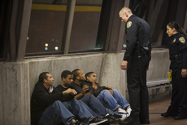 An innocent man is about to get shot in FRUITVALE STATION.