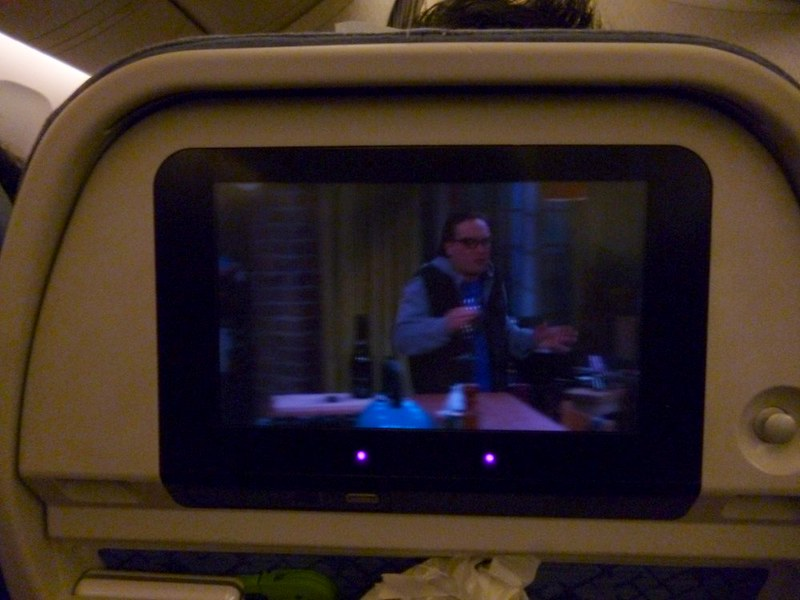 Bing Bang Theory on the plane