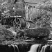 1st Place - Black & White - Al Perry - Grist Mill above Waterfall
