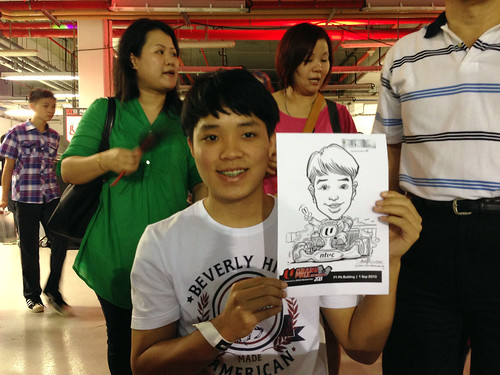 caricature live sketching for NTUC U Grand Prix Experience 2013 - 39