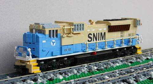 train lego mauritania snim sd70acs