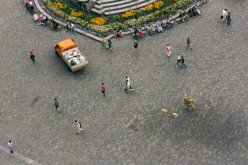 מבט מלמעלה על כיכר סטרומצקה