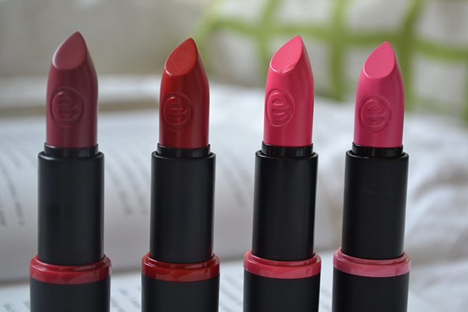 Lipsticks lined up