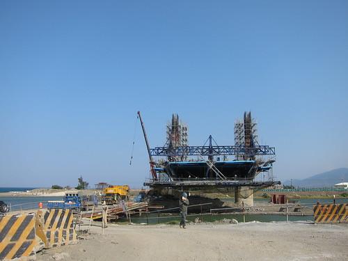 後灣附近正在興建快速道路