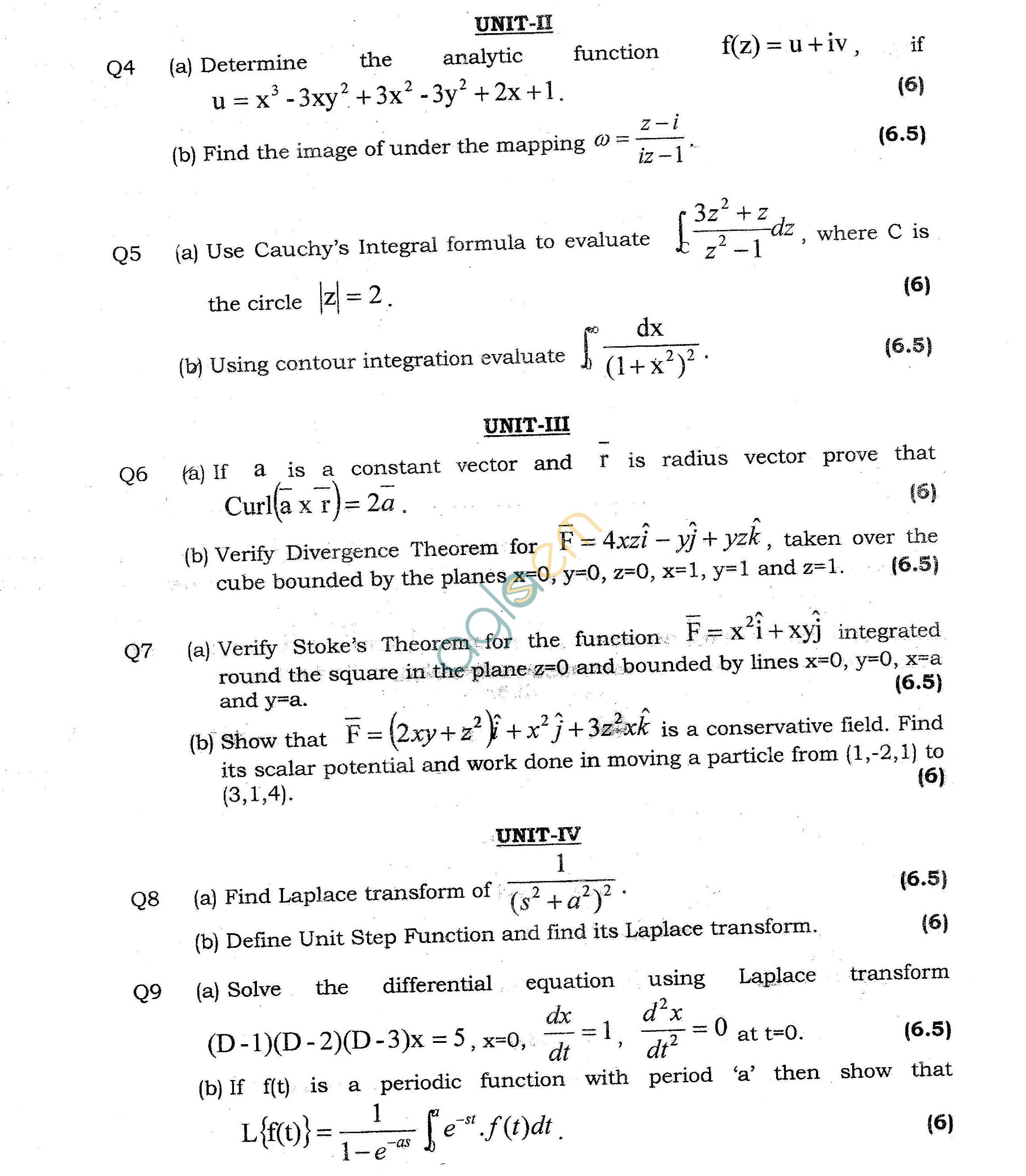 GGSIPU Question Papers Second Semester – End Term 2013 – ETMA-102