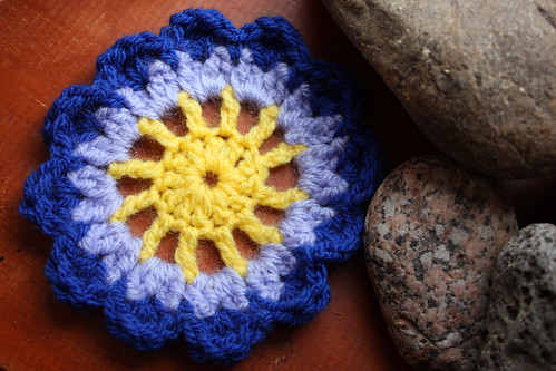 Crochet coaster by Helen in Wales